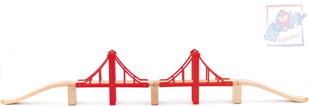 WOODY DŘEVO Lanový most doplněk k vláčkodráze set s kolejnicemi