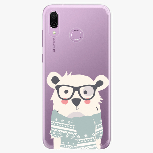 Silikonové pouzdro iSaprio - Bear with Scarf - Huawei Honor Play