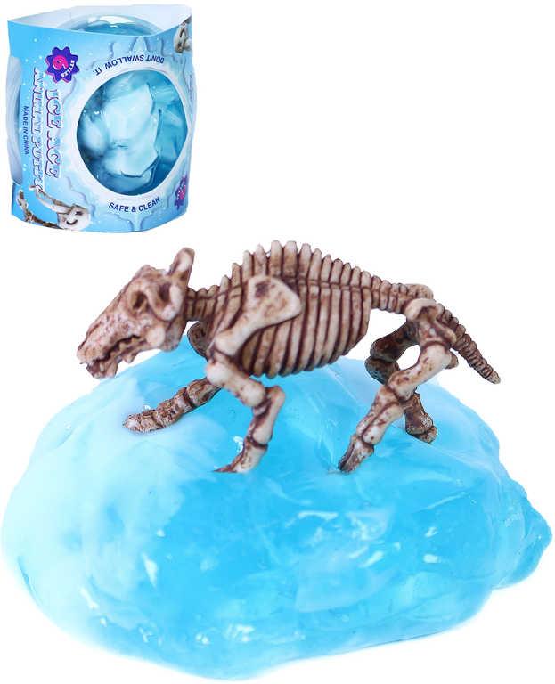 Hmota ledovec sliz s pravěkou kostrou v krabičce
