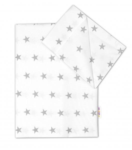 2 dílné bavlněné povlečení 135x100 - Hvězdičky v bílém - 120x90