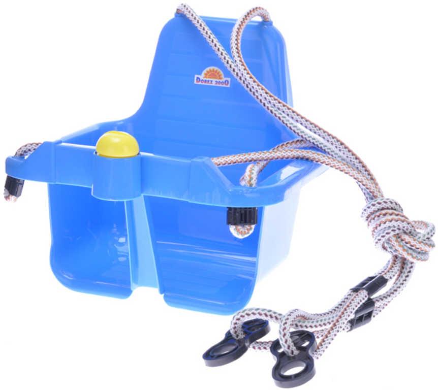 MAD Baby houpačka modrá závěsná skořepina s klaksonem pro miminko