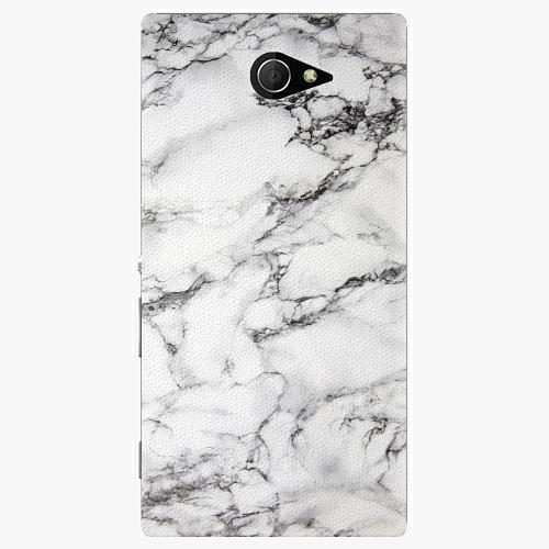 Plastový kryt iSaprio - White Marble 01 - Sony Xperia M2