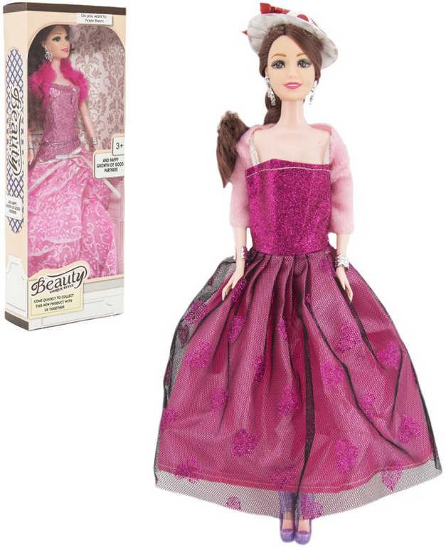 Panenka kloubová s doplňky 30cm dlouhé šaty s doplňky 2 druhy