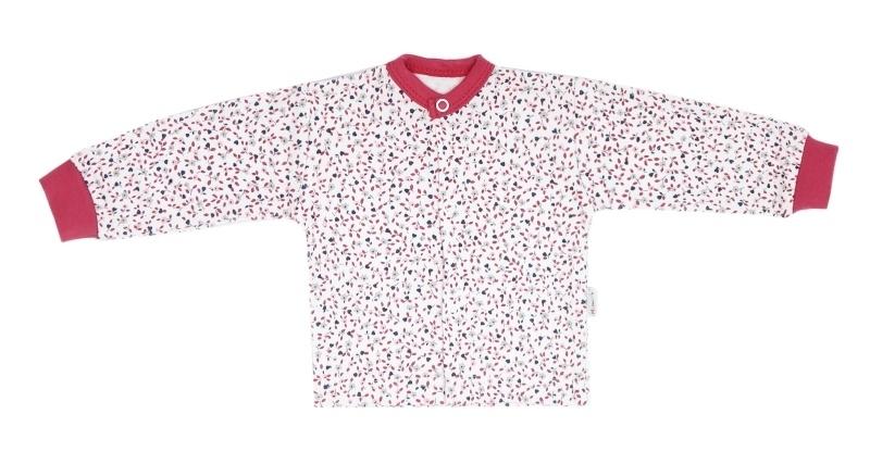 Mamatti Novozenecká bavlněná košilka, kabátek Mouse - mini květinky, vel.