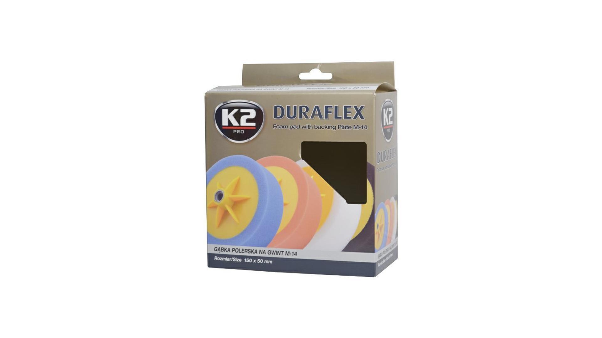 K2 Duraflex lešíci houba s uchytním talířem 150x50mm ČERNÁ