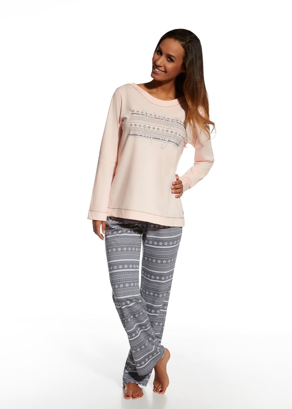 Dámské pyžamo Cornette 655/102 Stars - Růžová.šedá/XL