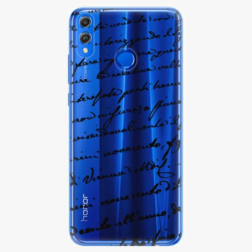 Silikonové pouzdro iSaprio - Handwriting 01 - black - Huawei Honor 8X