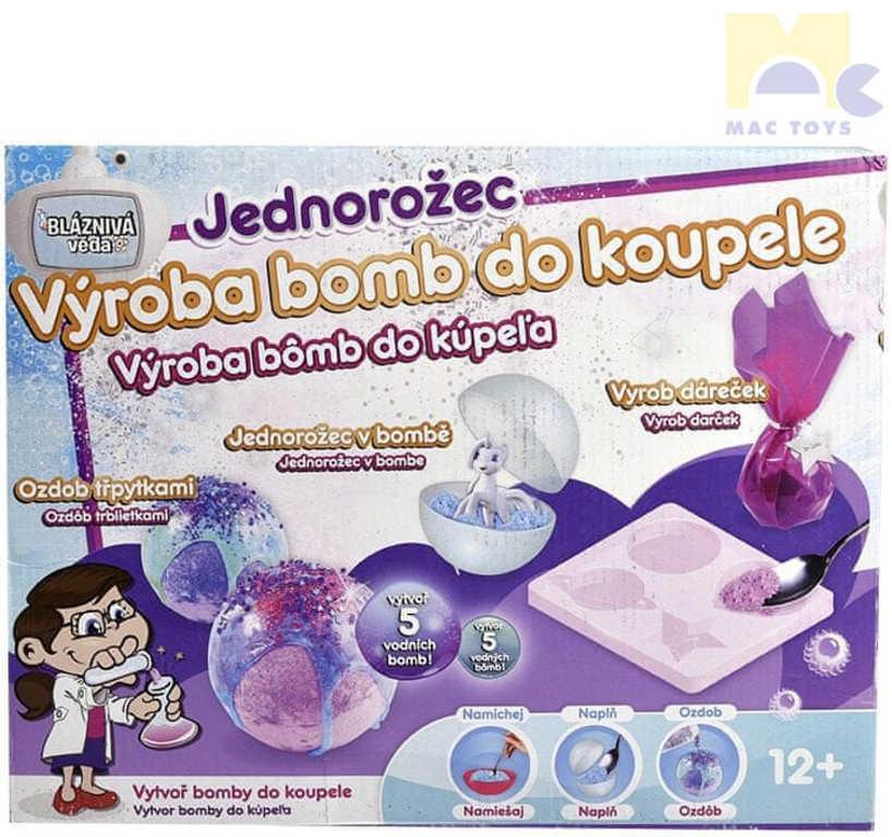 MAC TOYS Bomby do koupele s jednorožcem kreativní set bláznivá věda