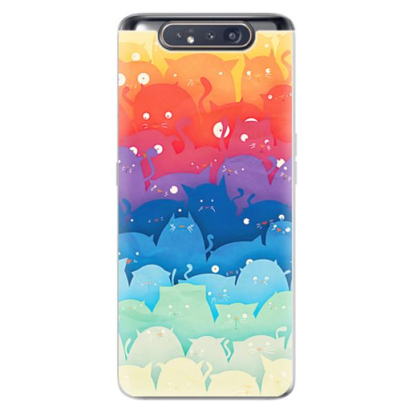 Odolné silikonové pouzdro iSaprio - Cats World - Samsung Galaxy A80