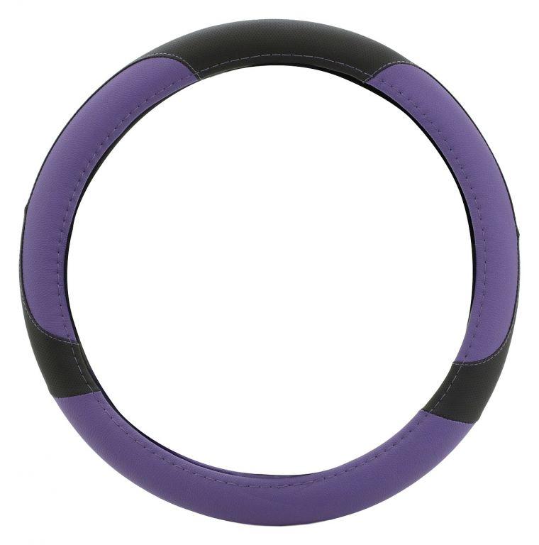 Potah volantu COLOR LINE - fialový/černý