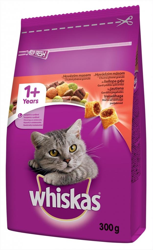 Granule pro kočky s hovězím 300 g