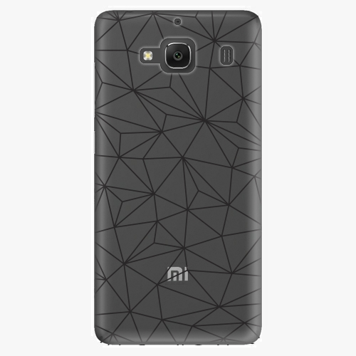 Plastový kryt iSaprio - Abstract Triangles 03 - black - Xiaomi Redmi 2