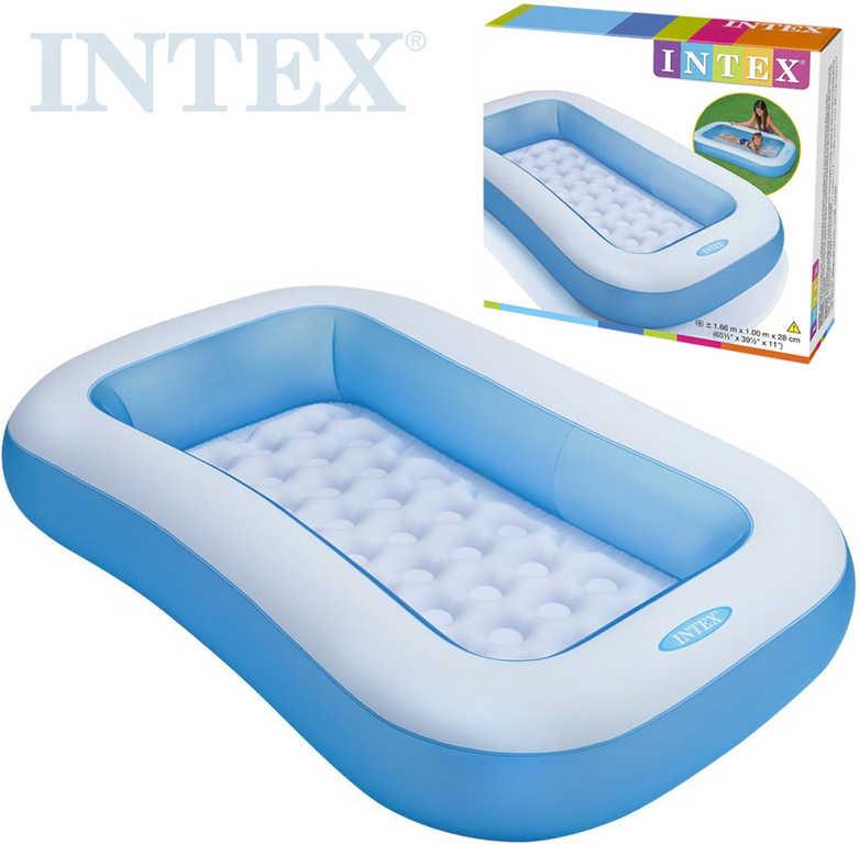 INTEX Bazén obdélníkový nafukovací 166x100x28cm modro-bílý 57403