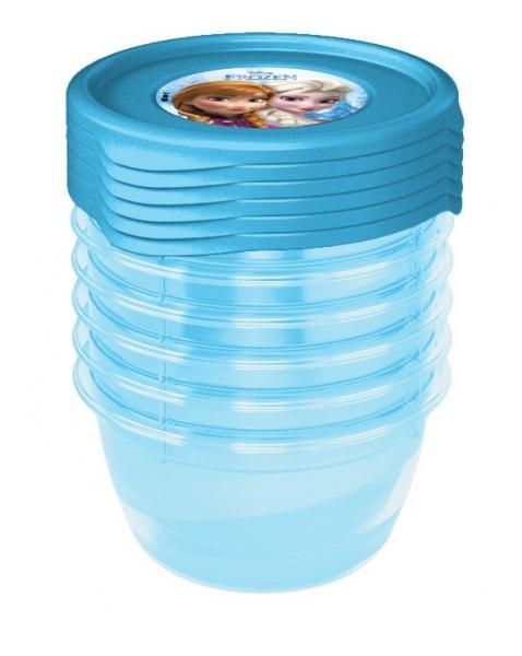 Sada plastových krabiček Frozen 0,5l - 5 ks