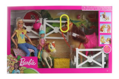 Barbie Herní set s koníky FXH15