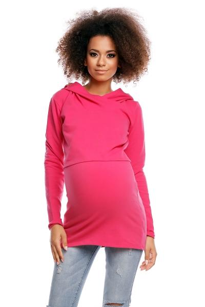 Těhotenské/kojící triko s kapucí