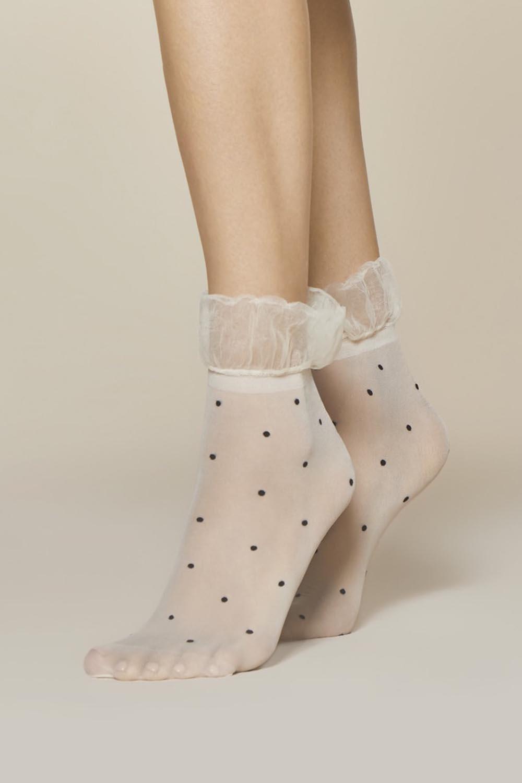 Dámské ponožky Fiore Rosa 20 den - Okrová/UNI