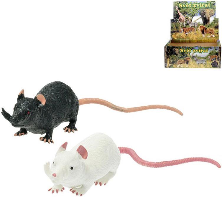 Krysa strečové zvířátko měkké 11cm různé barvy