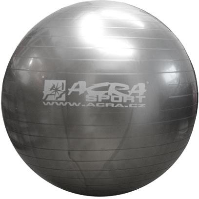 ACRA Míč gymnastický stříbrný 85cm fitness balon rehabilitační do 150kg