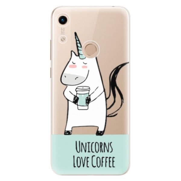 Odolné silikonové pouzdro iSaprio - Unicorns Love Coffee - Huawei Honor 8A