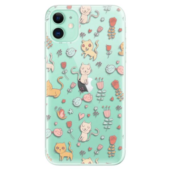 Odolné silikonové pouzdro iSaprio - Cat pattern 02 - iPhone 11