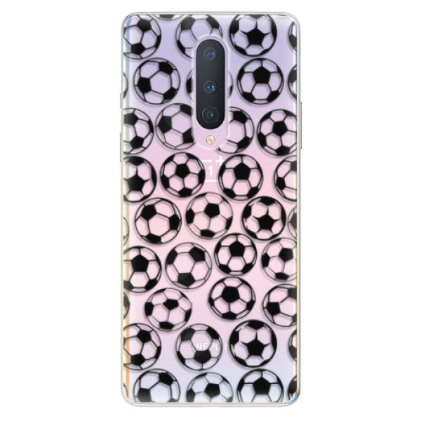 Odolné silikonové pouzdro iSaprio - Football pattern - black - OnePlus 8
