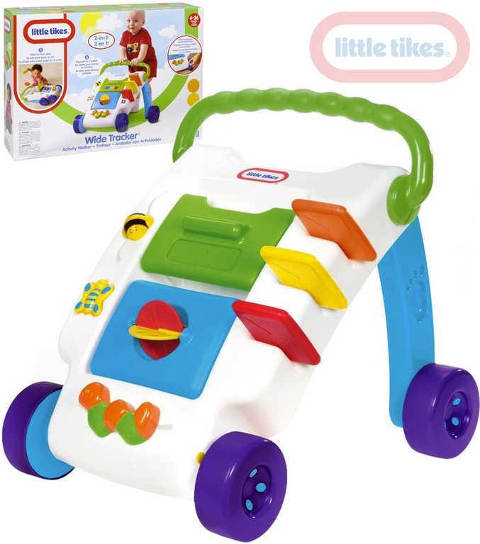 LITTLE TIKES Baby chodítko interaktivní 2v1 set s doplňky pro miminko
