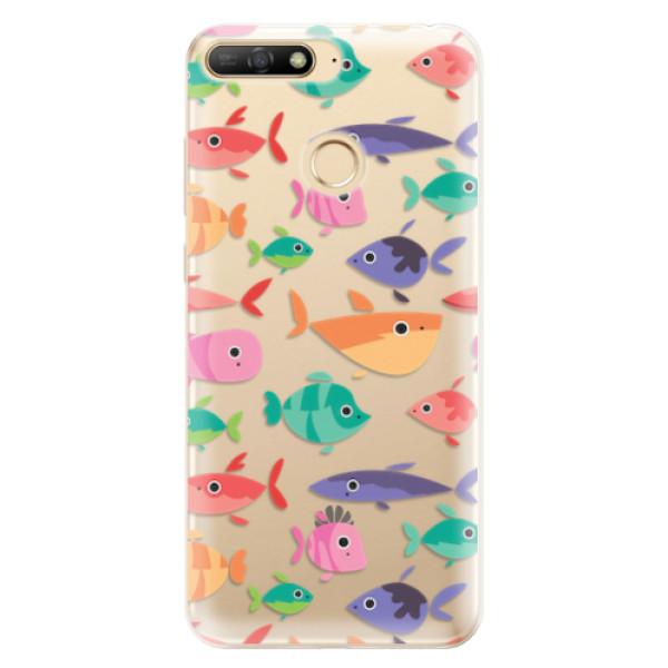 Odolné silikonové pouzdro iSaprio - Fish pattern 01 - Huawei Y6 Prime 2018