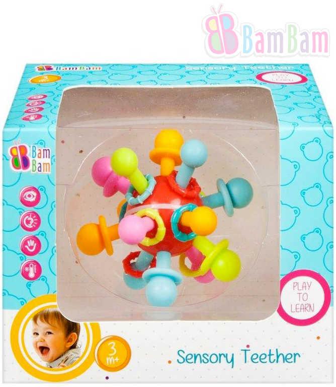 ET BAM BAM Baby kousátko senzorické chrastítko pro miminko