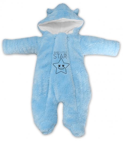 baby-nellys-zimni-chlupackova-kombinezka-little-star-sv-modra-vel-68-68-4-6m