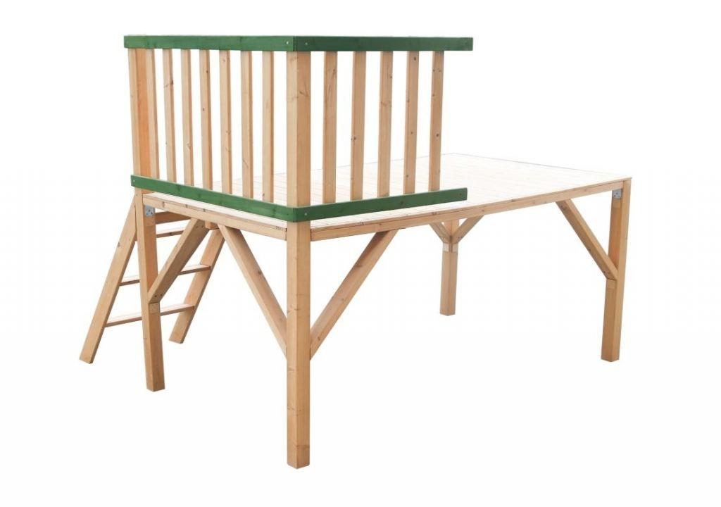 Dřevěná platforma k domečku stáj, 188 x 155 x 121 cm