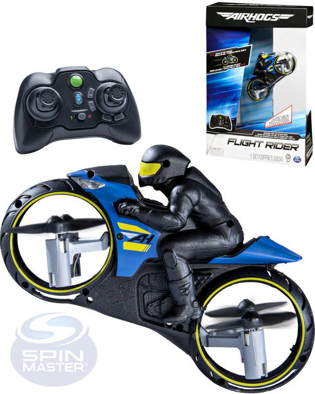 SPIN MASTER AirHogs motorka s jezdcem dron 2v1 vznášedlo na baterie USB