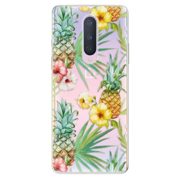 Odolné silikonové pouzdro iSaprio - Pineapple Pattern 02 - OnePlus 8