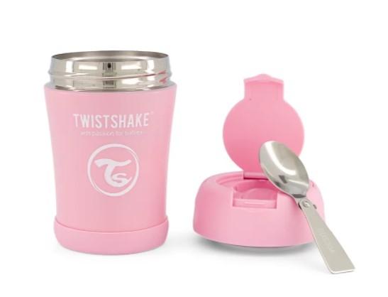 Termoska Twistshake na jídlo, 350 ml, růžová