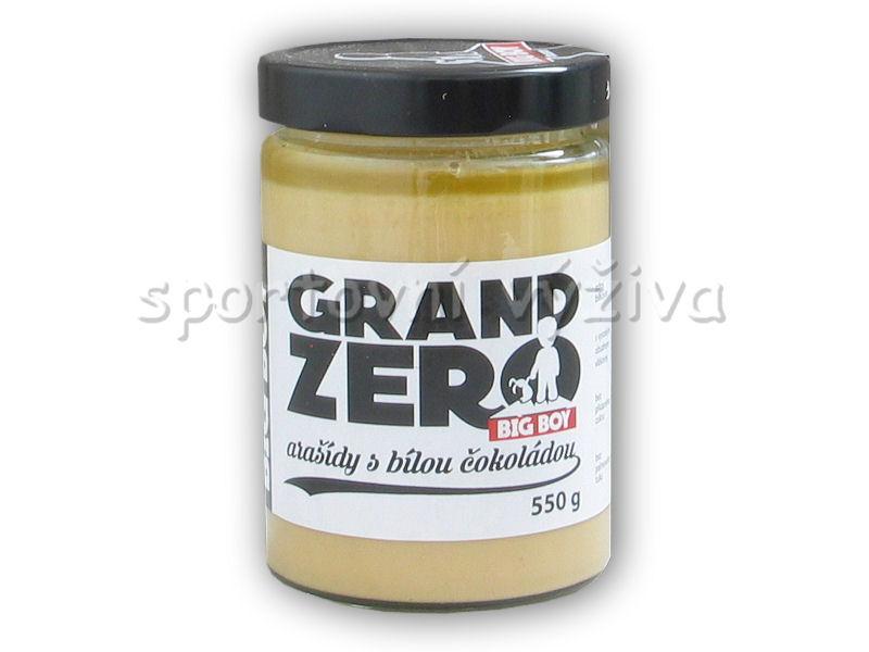 Grand zero <b>arašídový</b> krém bílá čoko 550g