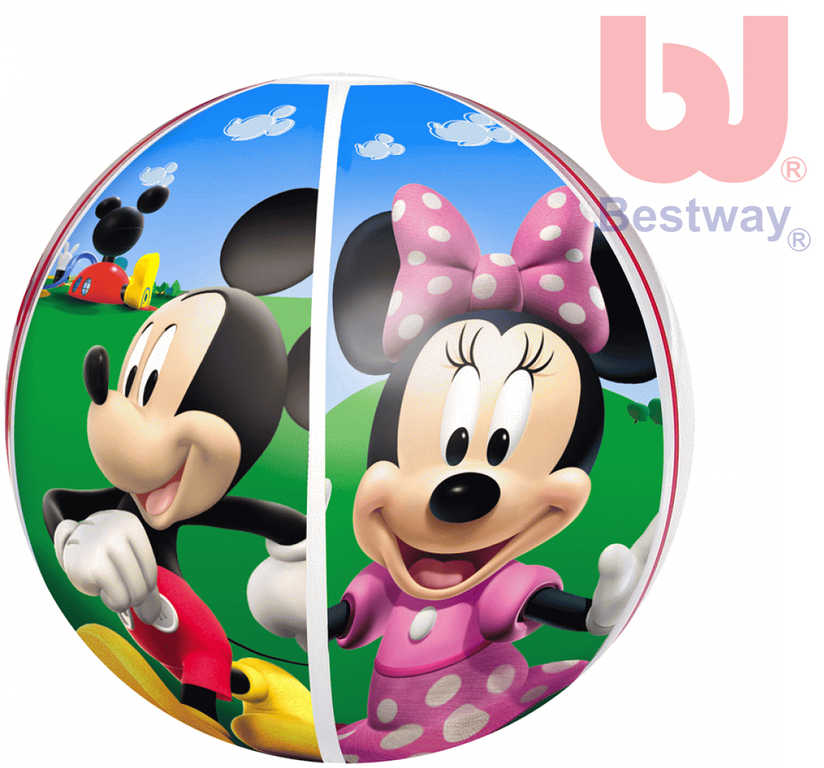 BESTWAY Nafukovací dětský míč Minnie a Mickey Mouse 51cm do vody