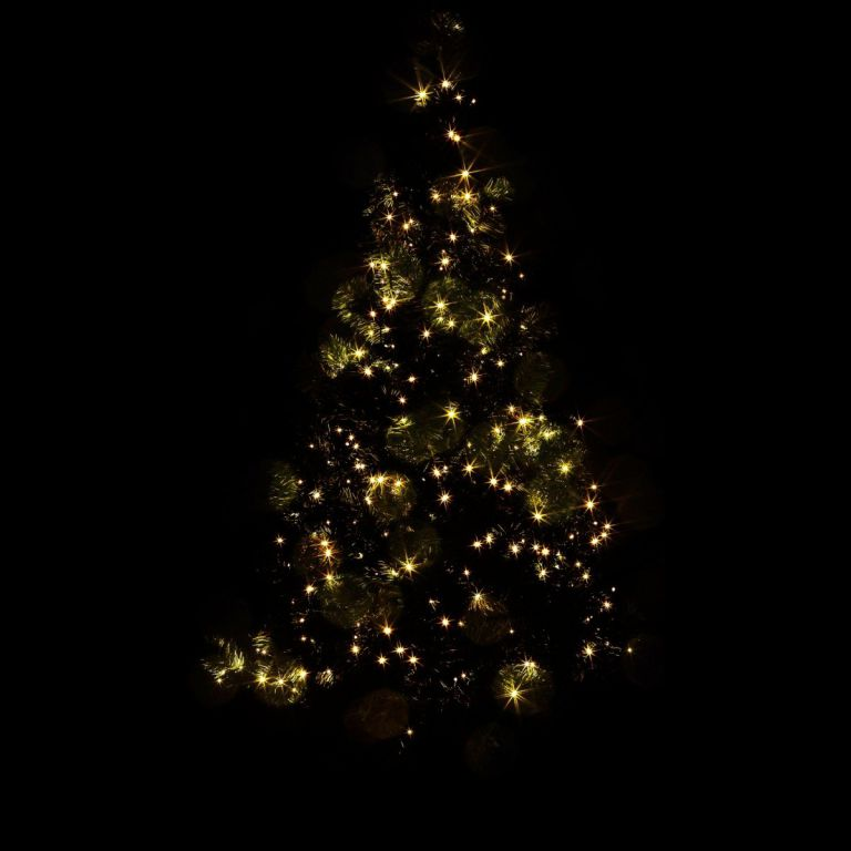 Vánoční LED osvětlení - 60 m,600 LED,teple bílé,zelený kabel