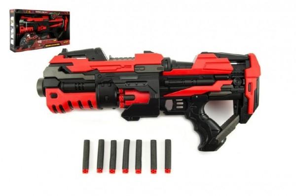 Pistole na pěnové náboje plast 45cm na baterie v krabici