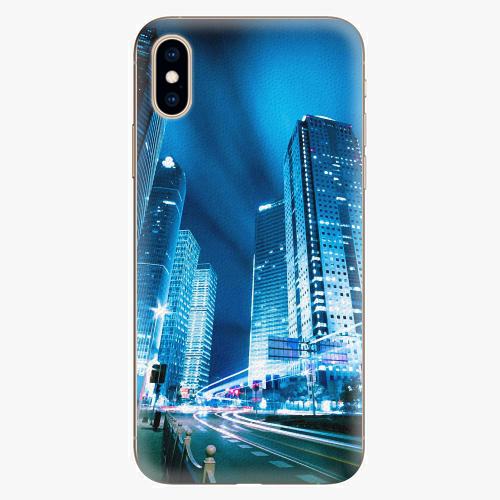 Plastový kryt iSaprio - Night City Blue - iPhone XS