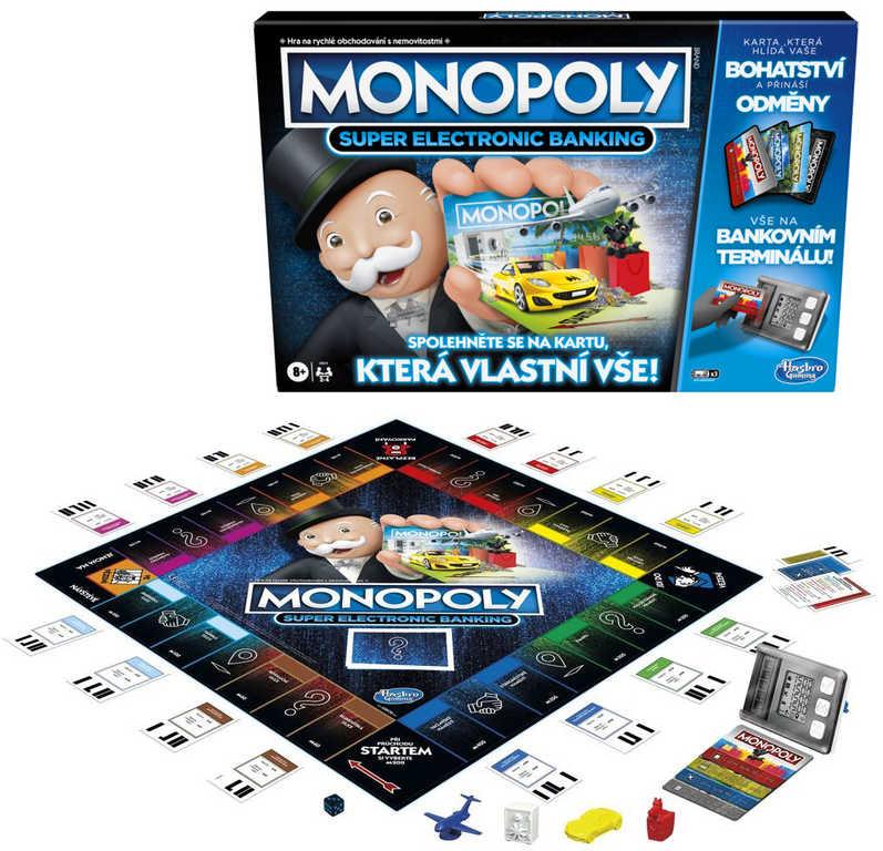 HASBRO Hra MONOPOLY Super elektronické bankovnictví na baterie CZ verze
