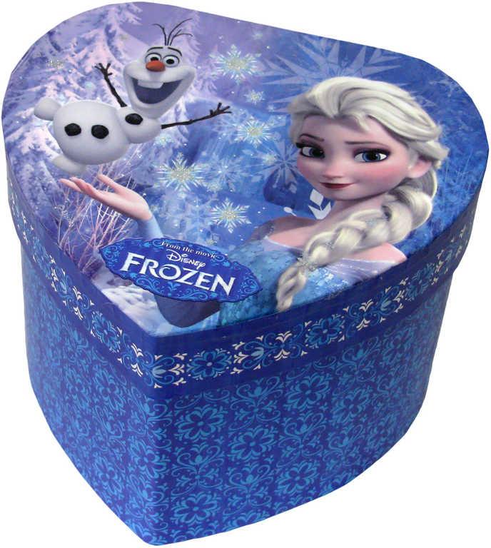 Šperkovnice dětská modrá srdce se zrcátkem Frozen (Ledové Království) karton