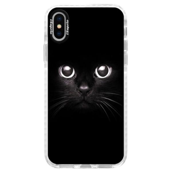 Silikonové pouzdro Bumper iSaprio - Black Cat - iPhone X
