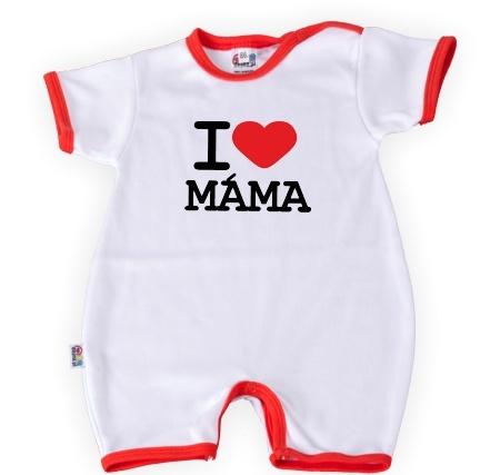 Body s krátkým rukávkem I LOVE MAMA