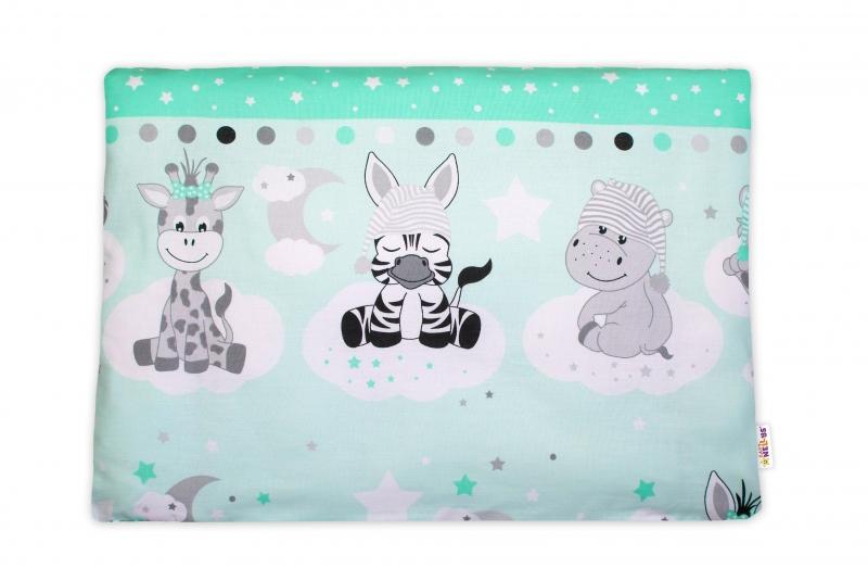 Baby Nellys Povlak na polštářek Safari Baby, 40x60 cm - zelený