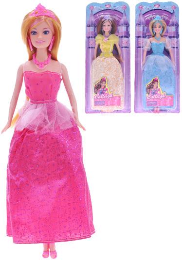 Panenka princezna 29cm kloubová 3 barvy na kartě