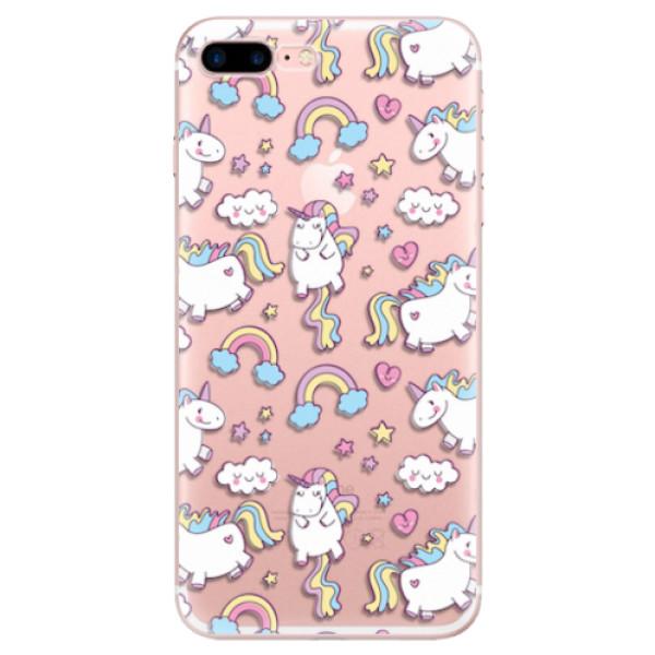 Odolné silikonové pouzdro iSaprio - Unicorn pattern 02 - iPhone 7 Plus