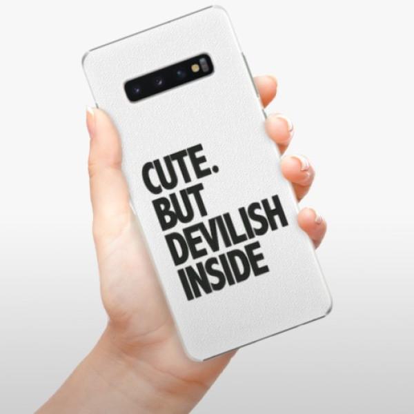 Plastové pouzdro iSaprio - Devilish inside - Samsung Galaxy S10+