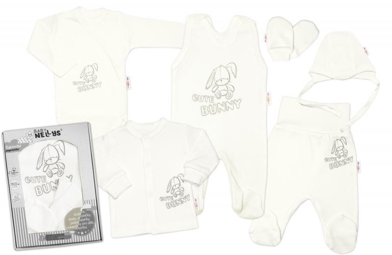 baby-nellys-velka-sada-do-porodnice-cute-bunny-6-ti-dilna-v-krabicce-smetanova-vel-62-62-2-3m