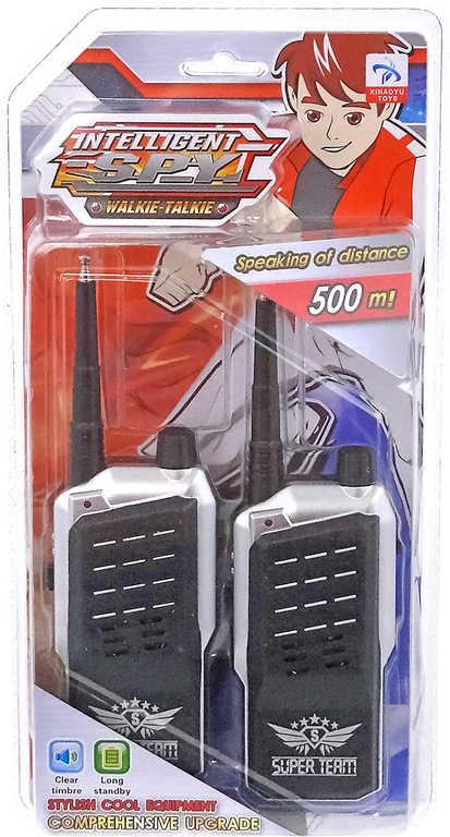 Vysílačky dětské plastové set 2ks walkie talkie na kartě