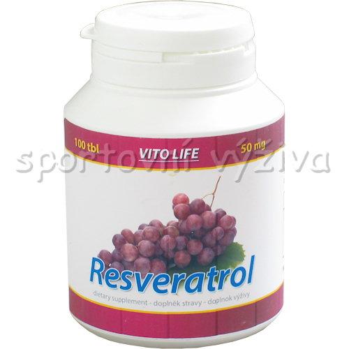 Resveratrol 50mg 100 kapslí